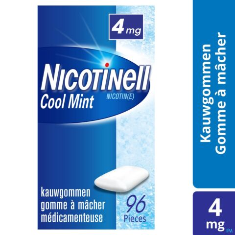 Nicotinell Cool Mint 4mg 96 Kauwgoms