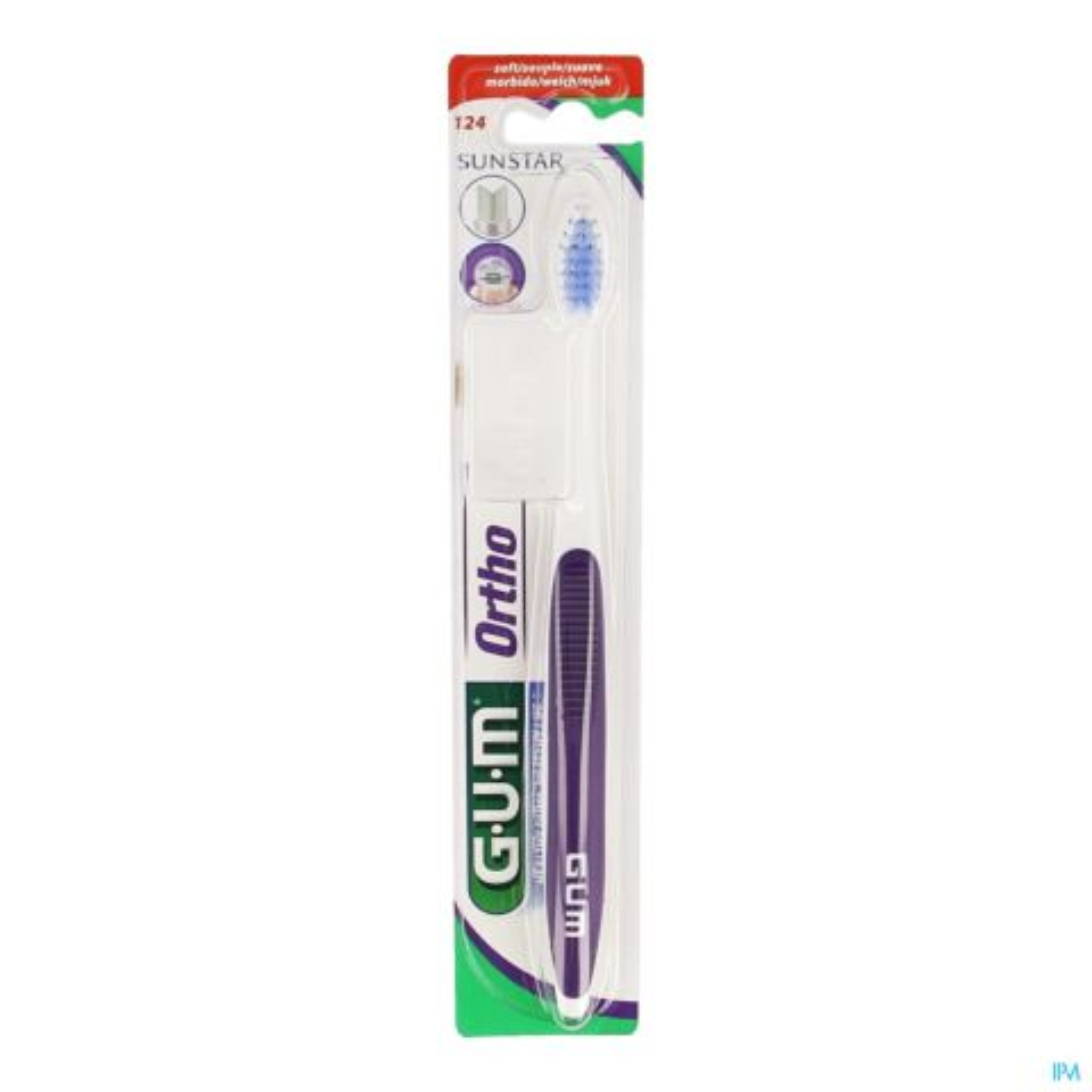 Gum Tandenborstel Orthodontic Soft 1 Stuk