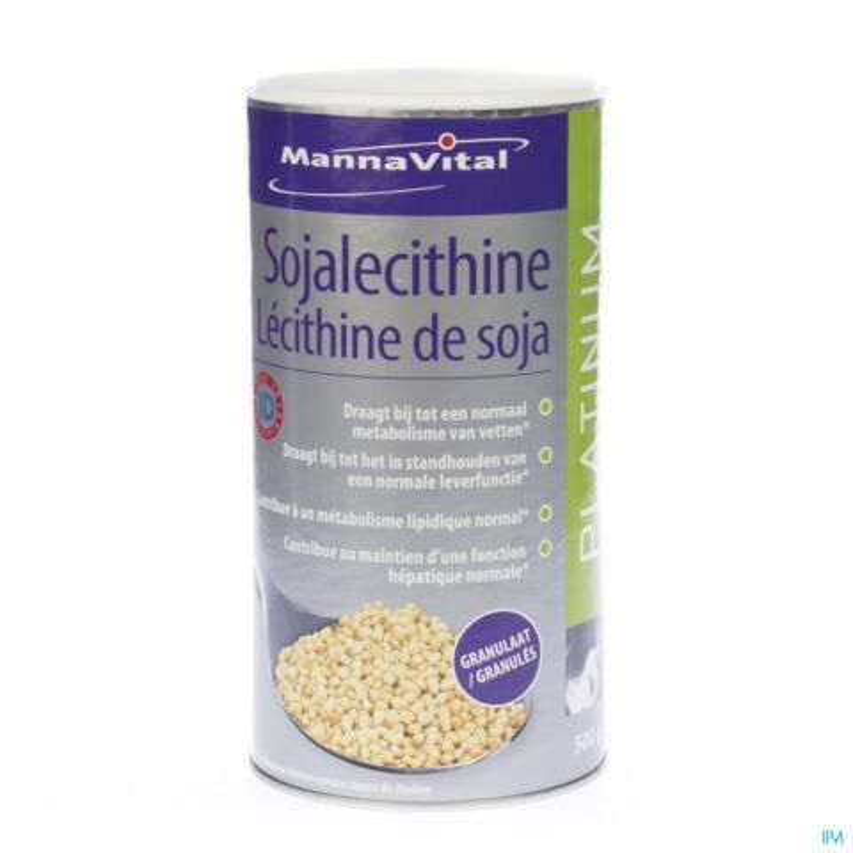 Mannavital Lecithine Soja Platinum Granulaat 500g