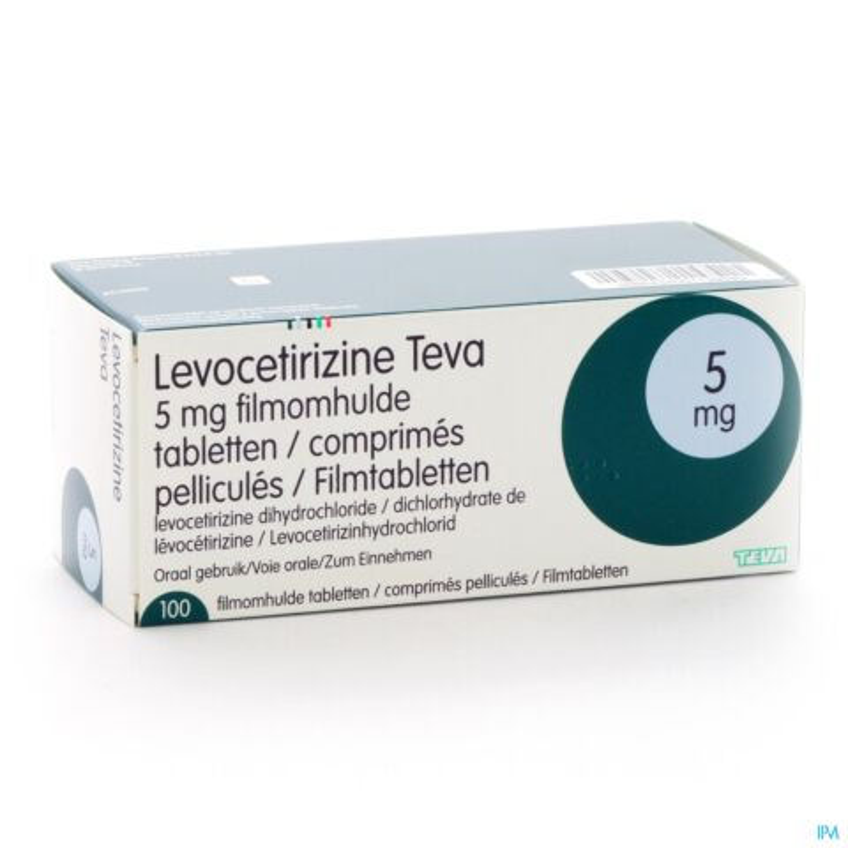 LEVOCETIRIZINE TEVA 5 MG COMP 100