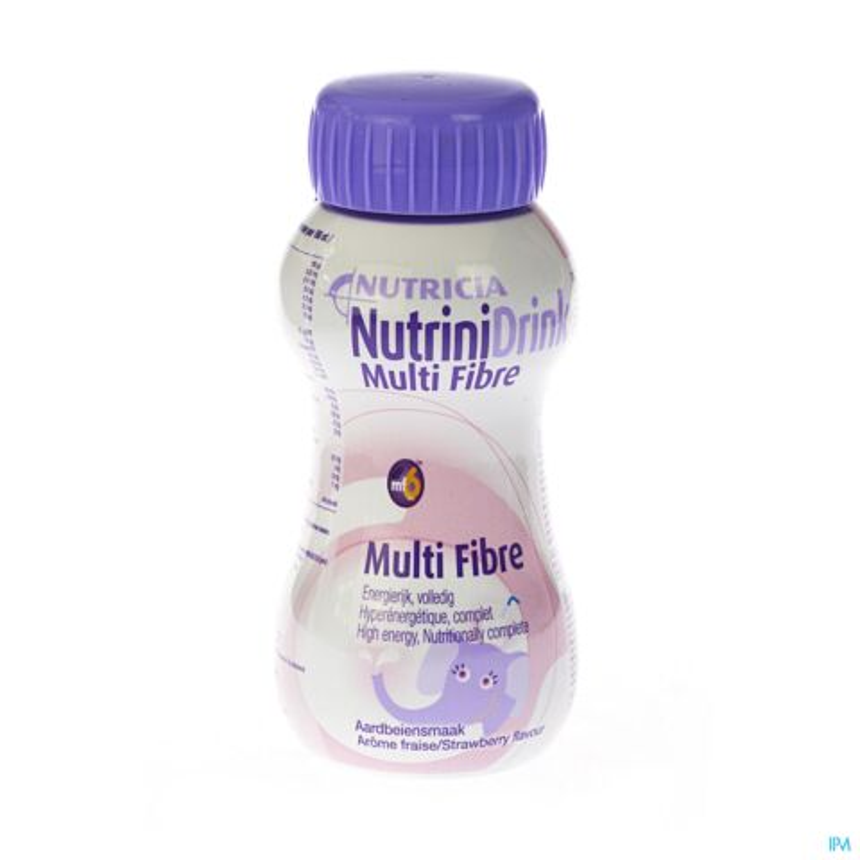NutriniDrink Multi Fibre Aardbeiensmaak Flesje 200ml
