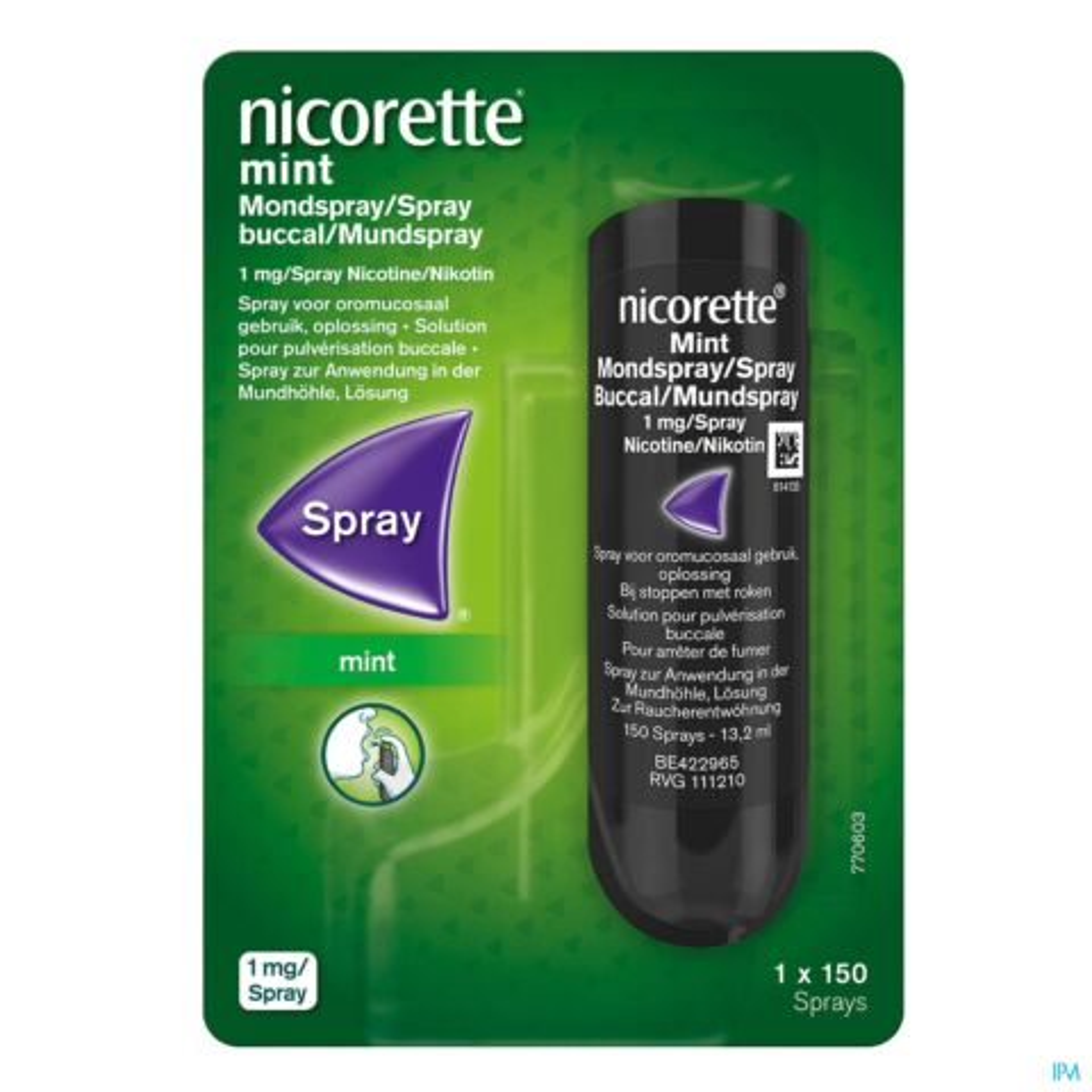 Nicorette Mint Mondspray 150 Sprays 1 Stuk