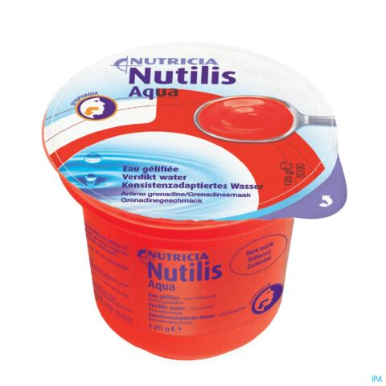 NUTILIS VERDIKT WATER GRENADINE CUPS 12X125G