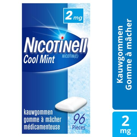 Nicotinell Cool Mint 2mg 96 Kauwgoms