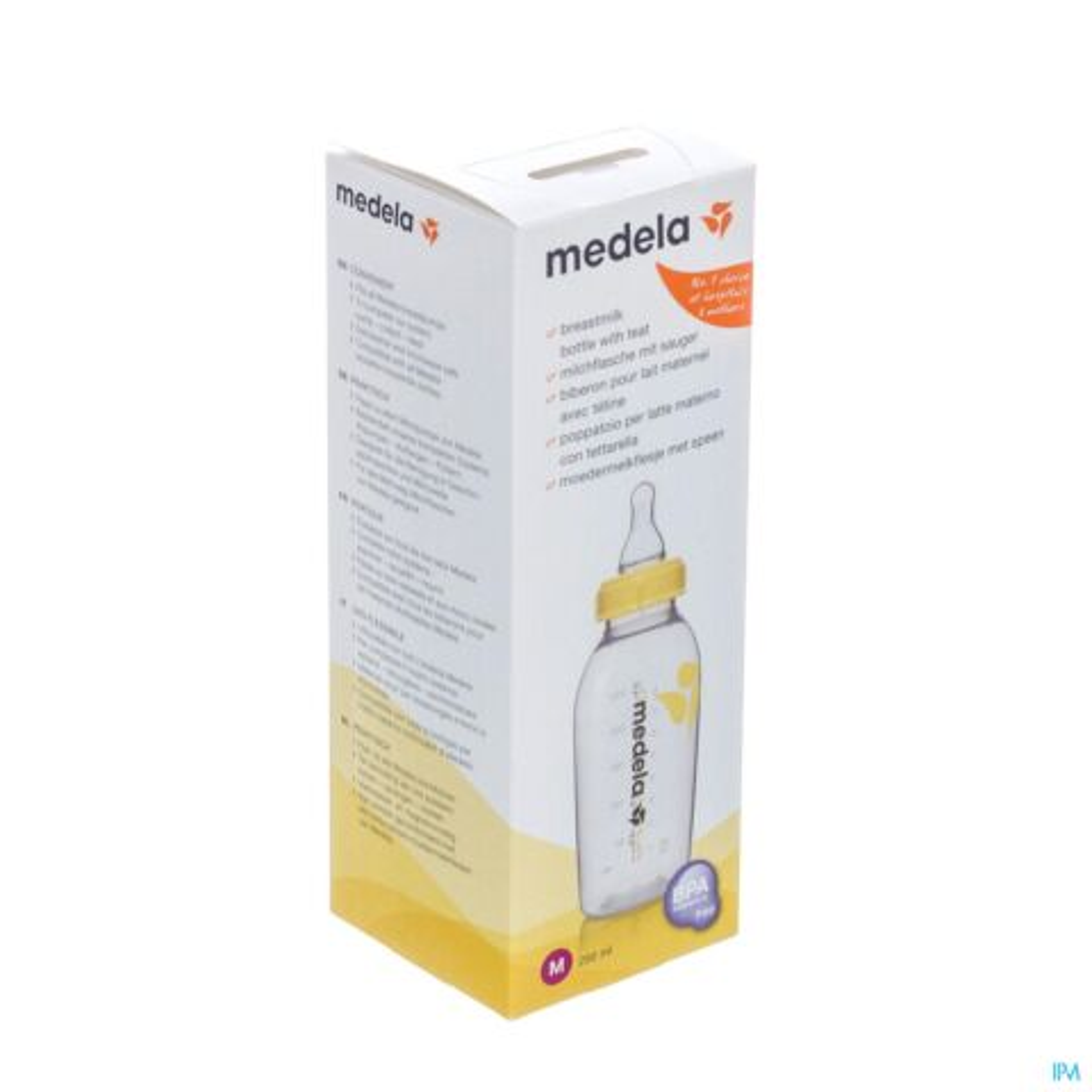 Medela Moedermelkflesje 250ml + Speen Medium Flow 1 Stuk