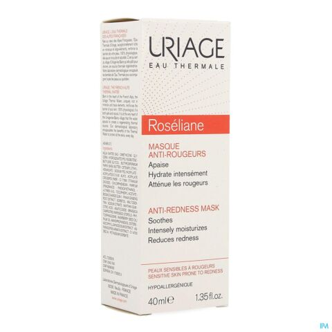 Uriage Roséliane Anti-Roodheid Kalmerend Masker Tube 40ml