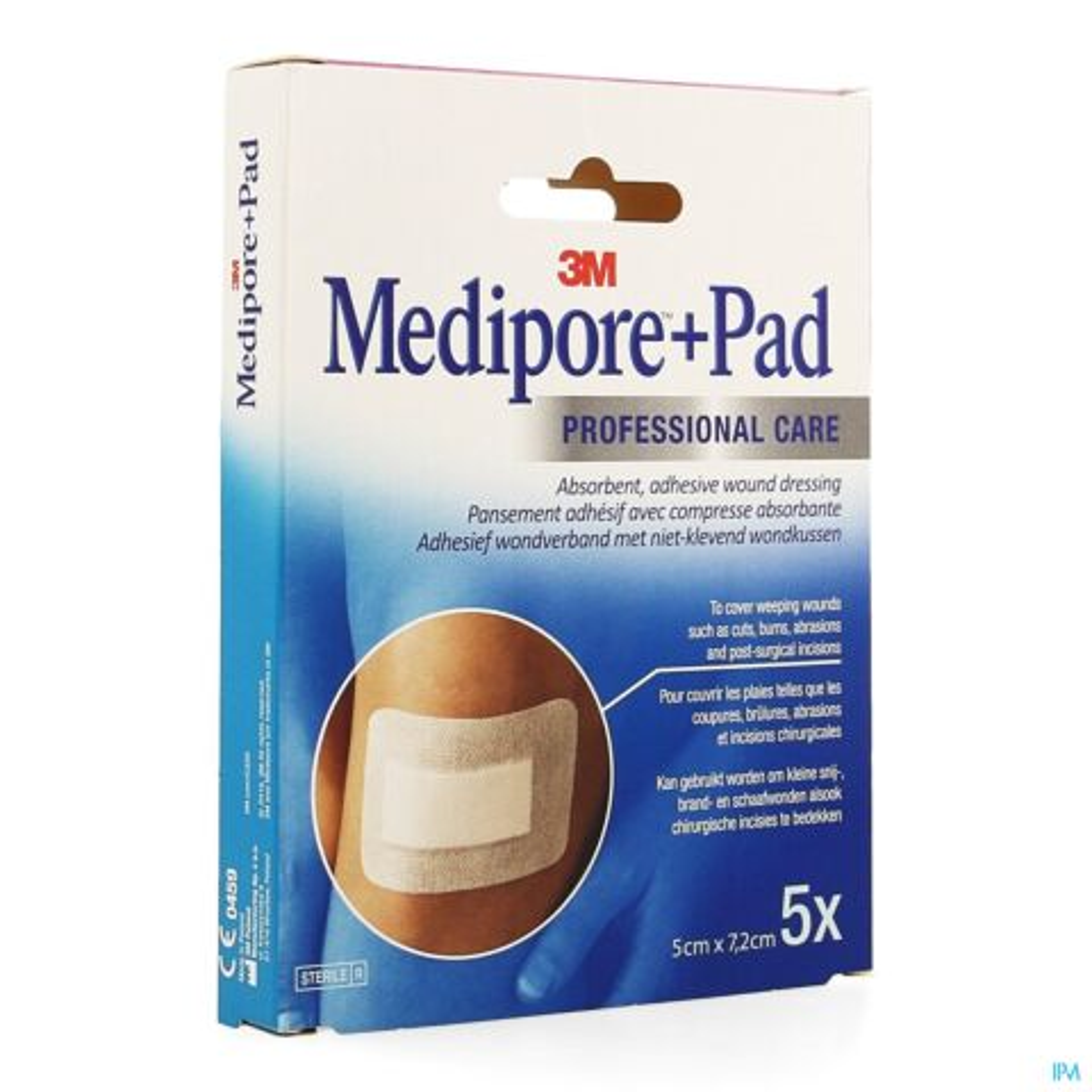 MEDIPORE + PAD 3M 5X 7,2CM 5 3562EP